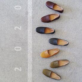 【arome de muguet】レザーフラット ジル 革靴 レザーシューズ 履き心地 柔らかい フラットシューズ ナチュラル カジュアル 本革 牛革 日本製 アロマドミュゲ リュバンドティアラ Ruban de Tiara
