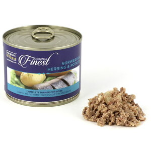 フィッシュ4 ドッグ FISH4DOGS ニシンポテト 缶詰 185g【犬用 手作りサポート トッピング ウェットフード 缶詰 穀物不使用 魚】