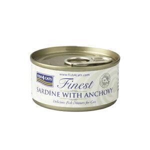 フィッシュ4 キャット FISH4CATS 缶詰「イワシ&アンチョビ」SARDINE WITH ANCHOVY 70g【猫 キャットフード ウェットフード 魚】