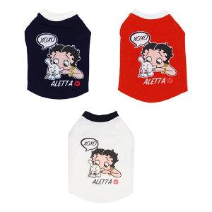 天使のカート Betty Boop pair Tee(XOXO)【小型犬 犬服 ウエア トップス Tシャツ セレブ】