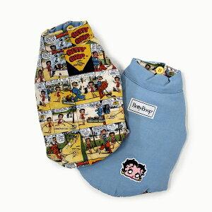 """天使のカート Betty Boop Reversible Vest """"Comic&Denim""""【小型犬 犬服 ウエア アウター ジャケット コート ベスト セレブ】"""