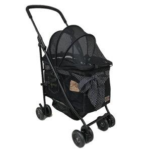 マザーカート Mother Cart アジリティー ブラックデニム ゴールドステッチ【小型犬 キャリーバッグ キャリーカート ペットカート ペットバギー 犬用品】