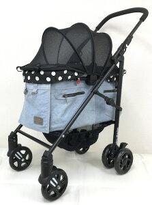 マザーカート Mother Cart ラプレ Lサイズ デニム【小型犬 キャリーバッグ キャリーカート ペットカート ペットバギー 犬用品】