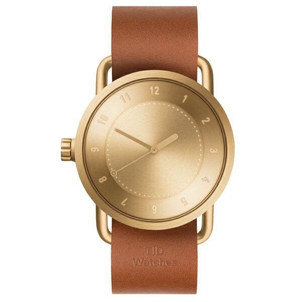 TID Watches ティッド ウォッチ No.1 GOLD + Leather Wristband 40mm 【国内正規品】 腕時計 TID01-GD/T 【送料無料】【あす楽対応】