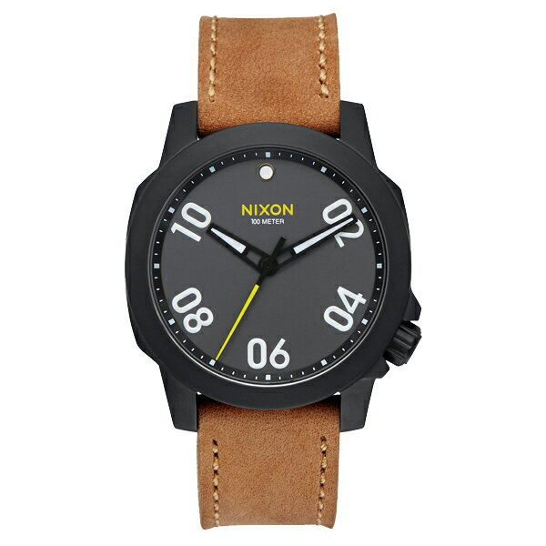 NIXON ニクソン RANGER 40 Leather レンジャーレザー Black/Gunmetal/Natural 【国内正規品】 メンズ NA4712093 【送料無料】【代引き手数料無料】