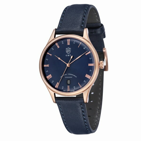 DUFA ドゥッファ Weimar GMT ネイビー×ゴールド 【国内正規品】 腕時計 DF-9006-0A 【送料無料】【代引き手数料無料】