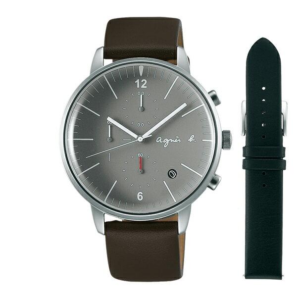 agnes b. アニエスベー べーシック クロノグラフ TiCTAC別注 【国内正規品】 腕時計 メンズ FCRT702 【送料無料】