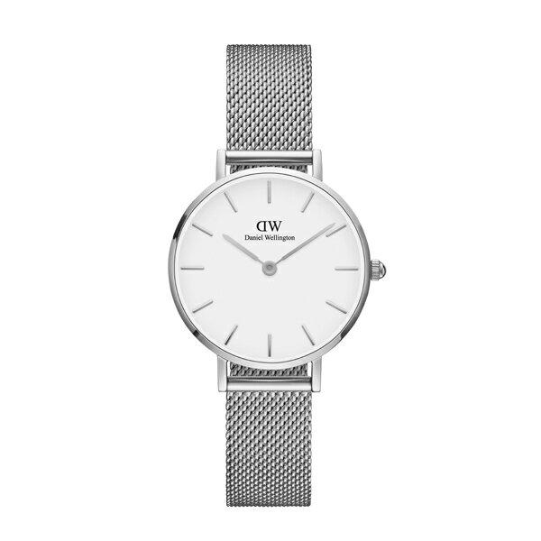 Daniel Wellington ダニエルウェリントン CLASSIC PETITE STERLING シルバー 28mm 【国内正規品】 腕時計 DW00100220 【送料無料】