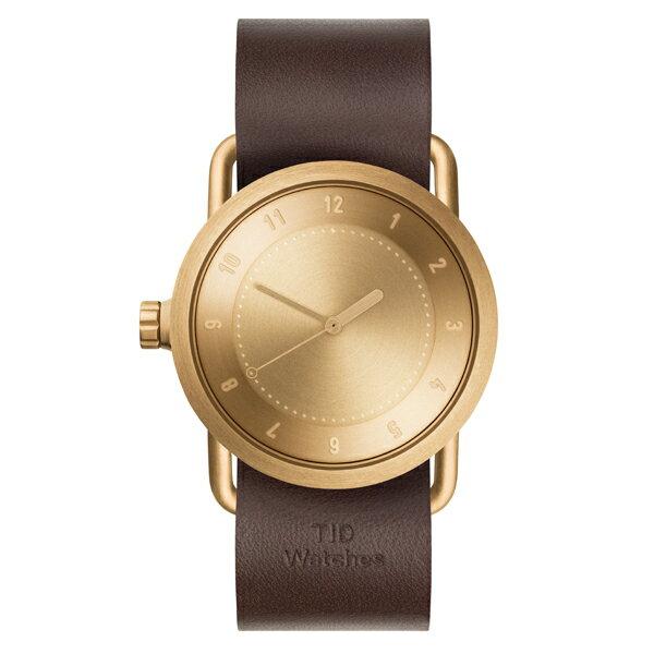 TID Watches ティッド ウォッチ No.1 GOLD + Leather Wristband 36mm 【国内正規品】 腕時計 TID01-36 G/W 【送料無料】【あす楽対応】