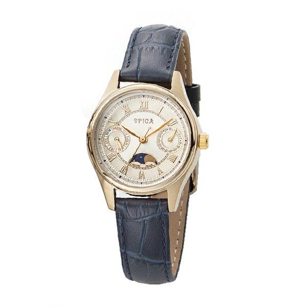 SPICA スピカ MOON PHASE ムーンフェイズ TiCTAC オリジナル ペアモデル 腕時計 SPI46-GD-NV 【送料無料】