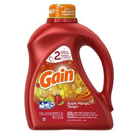 レギュラーサイズの2倍のお徳用サイズです【 GAIN 】ゲイン アップルマンゴタンゴ 濃縮 液体洗剤 2.95L 100oz