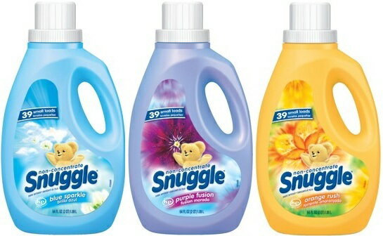 【 Snuggle 】 スナッグル ( スナグル ) 柔軟剤 64oz / 1.89L ( ブルースパークル ・パープルフュージョン ・ オレンジラッシュ )
