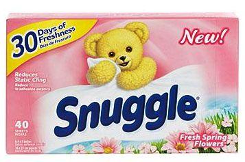 【Snuggle】スナッグル(スナグル)スプリングフラワーズ乾燥機用柔軟シート40枚入