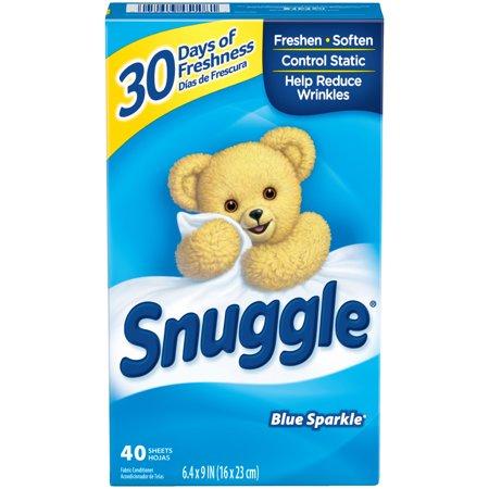 送料290円〜【 Snuggle 】 スナッグル / スナグル ブルースパークル 乾燥機用柔軟剤 ( 柔軟シート ) 40枚入