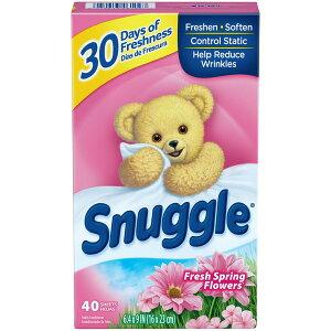 送料300円〜【 Snuggle 】スナッグル ( スナグル ) フレッシュスプリングフラワーズ 乾燥機用柔軟剤 ( 柔軟シート ) ピンク 40枚入