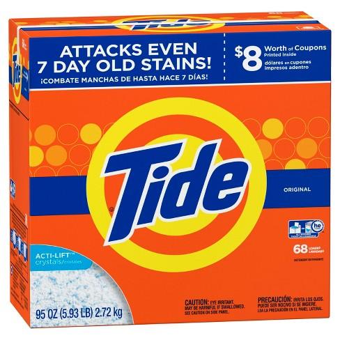 全機種対応型(he TURBO)洗剤【Tide ACTI-LIFT crystals】タイドオリジナル粉末洗剤2.72kg/95oz