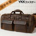TIDING 贅沢一枚牛革 本革 メンズ ボストンバッグ YKK ボックス型 トラベルバッグ 2泊 3泊 旅行鞄 機内持ち オイルプ…