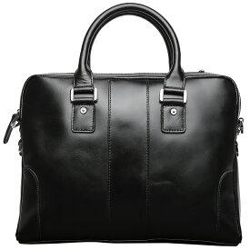 【楽天スーパーSALE半額】TIDING 軽量 本革 牛革 メンズ ブリーフケース ビジネスバッグ パソコンバッグ 手提げバッグ 14PC 2WAY オイルレザー 書類かばん 通勤鞄 ブラック
