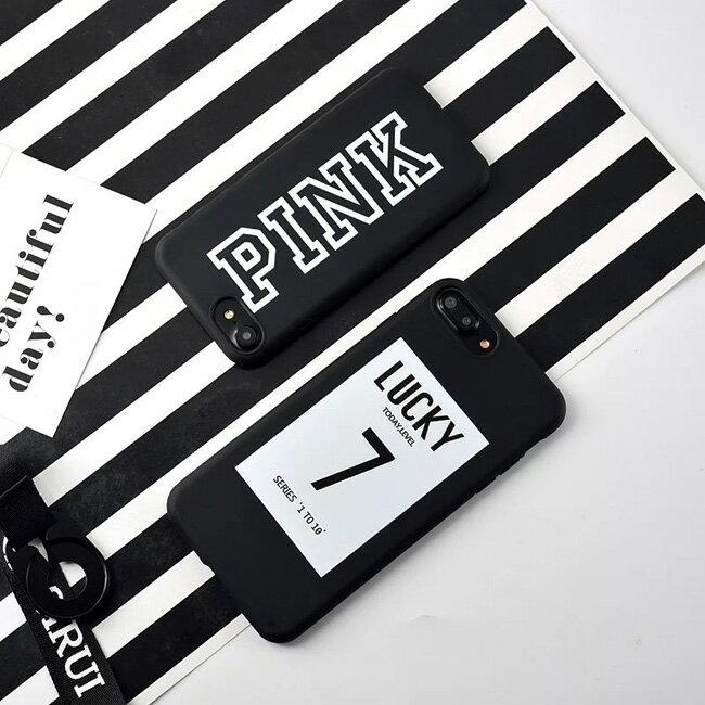 iphoneX iphone8 iphone8plus iphone7 iphone7plus iphone6 iphone6s iphone6plus iphone6splus かわいい おしゃれ ラッキー 7 pink ピンク スマホケース iphone plus 可愛い 海外 シリコン 韓国 耐衝撃 ソフト おもしろ ケース カバー アイフォン