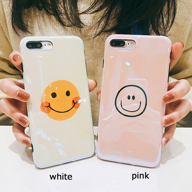 オーロラ加工iphoneXs Max XsMax XR Xs iphonex iphone xs max xr xs xsmax x 8 8plus 7 7plus iphone6 iphone6s iphone6plus iphone6splus 海外 かわいい ニコちゃん スマイル スマホケース iphone plus 可愛い おしゃれ 韓国 ソフト ケース カバー アイフォン