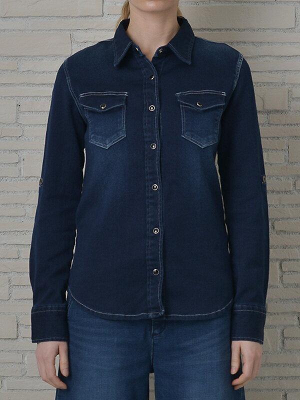 INDIMARK インディマーク カットデニムシャツ インディゴ WT013-3 正規品[小さいサイズ/大きいサイズ/レッドペッパージーンズ/バーゲン/セール/激安/特価]