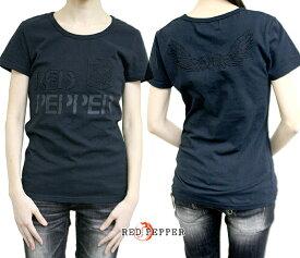 レッドペッパージーンズ レディース ピグメント加工ウィング刺繍ロゴTシャツ 71LT-43