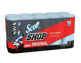 Scott SHOP TOWELS ショップタオル ブルーロール 55枚 10ロールセット