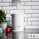 タイガー 蒸気レス 電気 ケトル 「わく子」(0.8L)PCH-G080WP パールホワイト