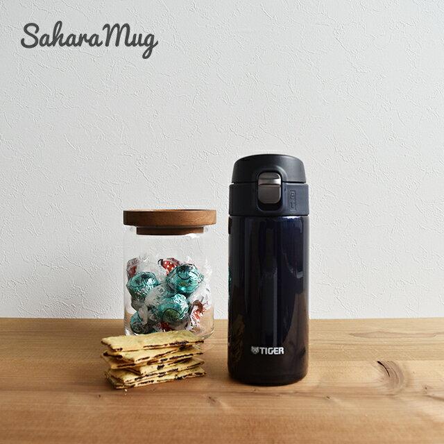 クールでシンプルなモノトーンカラー タイガー魔法瓶 ステンレスボトル ワンプッシュ マグ MMJ-A036KA ブルーブラック 0.36L 保温 保冷 おしゃれ かっこいい 水筒