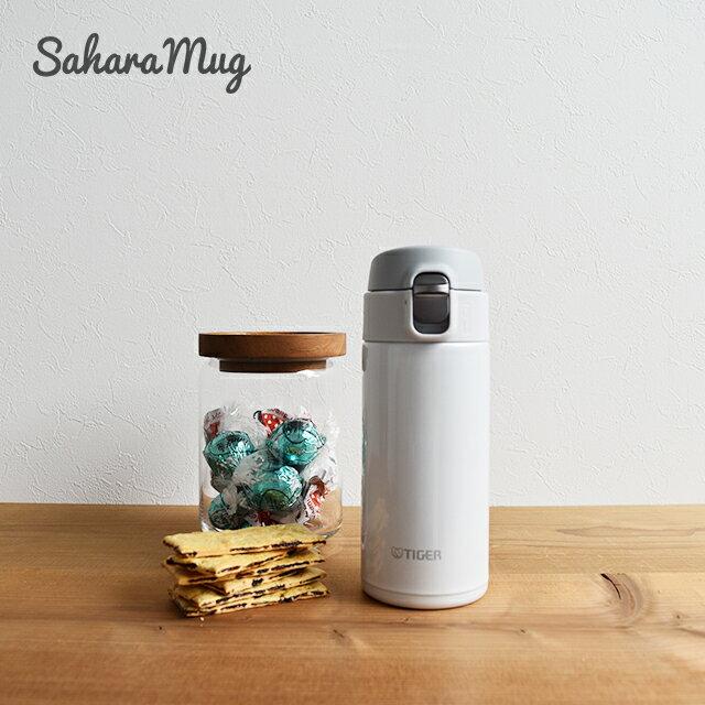 シンプルで人気のカラー タイガー魔法瓶ステンレスボトル ワンプッシュ マグ MMJ-A036WW スノーホワイト 0.36L 保温 保冷 おしゃれ かわいい かっこいい 軽い 水筒