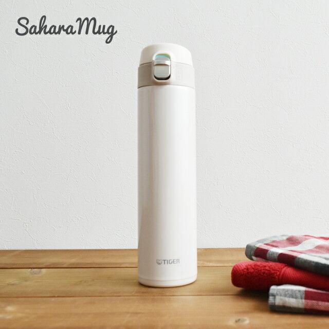 タイガー魔法瓶 ステンレスボトル ワンプッシュ マグ MMJ-A601WM クリームホワイト 0.60L 保温 保冷 おしゃれ かわいい 軽い 水筒