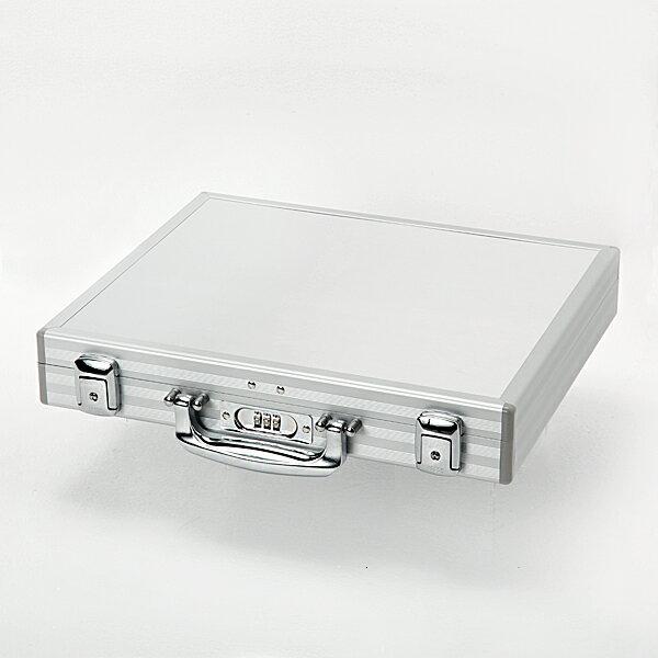 アルミ製アタッシュケース・3桁ダイヤルロック錠付・A4サイズ【ビジネス/アタッシュ/アルミ】マイナンバーカードの管理や保管に。