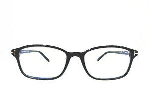 TOM FORD トムフォード 日本限定モデル TF5647-D-B 001 正規品 ブルーライトカット 定価46,200円 シルバーアイコン 眼鏡 メガネ フレーム メンズ レディース ギフト ブラック ウェリント