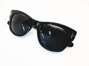 TOM FORD(トムフォード)正規品 サングラス TF58-F 01A  定価56,100円 アジアンフィット 眼鏡 メガネ フレーム メンズ レディース ギフト 黒 ブラック ブラック グレーレンズ 極太