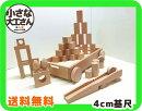 【小さな大工さんの積み木セット】】【送料無料】40ミリ基尺トロッコ(薄)に入ったかわいいセットたち直方体立方体日本製白木の積み木40-26