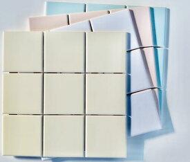 正方形タイル ブライト&アタック97,75mm角 11カラー 9枚付いて1シート 昔からあるスタンダートサイズ 100角 厚み5.5mm 昔から続くタイル DIY インテリア 工作 陶磁器 タイル