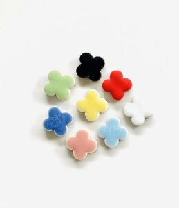 花型 タイルシリーズお試しサンプルパック8色【全色 1個ずつ入った 8個入りセット】 DIY や インテリア 工作 におすすめの 小さい 陶磁器 タイル sample