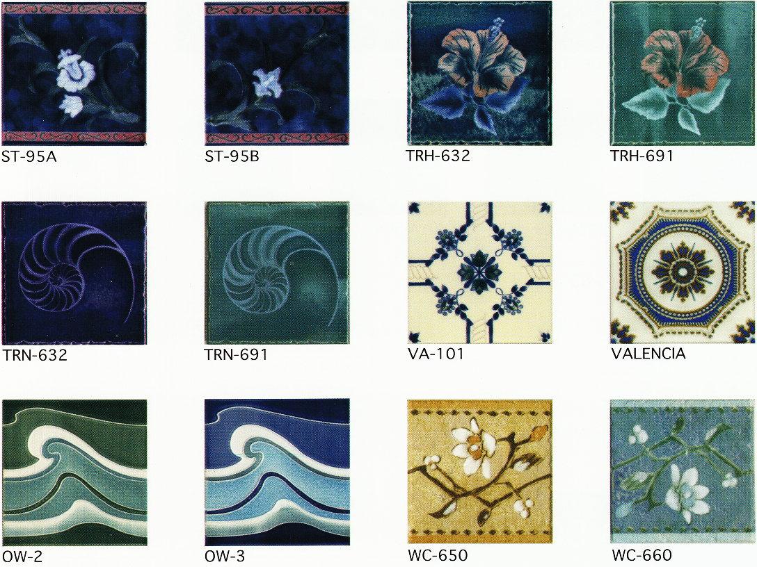 アンティーク デザインタイル 150角 花 トルコ・イスラム・ヨーロッパ・モロッコ風・モロッカン・レトロな磁器絵タイルです。インテリア 壁、床(キッチン カウンター・浴室)のDIYリフォーム、にお勧めです。モザイクタイル・コースター、鍋敷等、インテリア雑貨