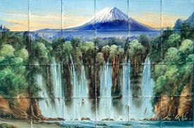 100角磁器絵タイル 富士山2 24枚一セットの単価です