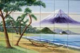 100角磁器絵タイル 富士山1 24枚一セットの単価です