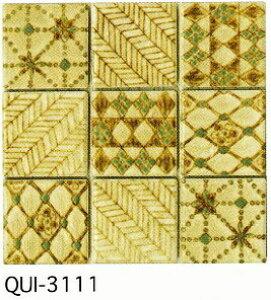 白ベージュ 50角 デザインタイル モザイクタイル 磁器 インディア シート(36粒)販売。 アンティーク イスラム風の絵タイル。壁、床(キッチン カウンター・テーブル・浴室) のDIYリフ