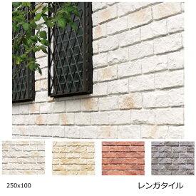 コーラル ストーン風 レンガタイル 外壁 壁用 ブリックタイル 外壁用 DIYリフォーム インダストリアル アンティーク 壁 250x100 大きいレンガ風