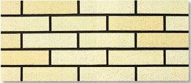陶彩 ブリックタイル 1枚単位の販売(磁器質 壁タイル)ベージュ煉瓦風 岩面 壁(玄関・塀・リビング・店舗・コンクリート ブロック・ベニヤ・ボード) のDIYリフォームにOK。南欧風の壁用 二丁掛 平 レンガ タイル ブリック、エクステリア建材・壁材です