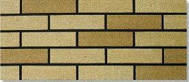 陶彩 ブリックタイル 1枚単位の販売(磁器質 壁タイル)ベージュ 煉瓦風 岩面 壁(玄関・塀・リビング・店舗・コンクリート ブロック・ベニヤ・ボード) のDIYリフォームにOK。南欧風の壁用 二丁掛 平 レンガ タイル ブリック、エクステリア建材・壁材です