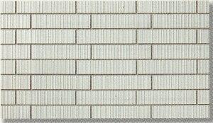 45四丁 レンガ調 スクラッチ面 ブリック 磁器タイル 白色 接着剤貼り用 シート(12枚)販売です。外壁・内壁(玄関・エントランス・マンション)のDIYリフォームにお勧め