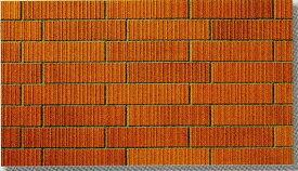 45四丁 レンガ調 スクラッチ面 ブリック 磁器タイル 赤煉瓦色 接着剤貼り用 シート(12枚)販売です。外壁・内壁(玄関・エントランス・マンション)のDIYリフォームにお勧め