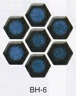 和風 モザイクタイル シート 磁器 六角 アンテイーク 壁用 レトロモダンな なまこ・青紺色。キッチン カウンター お風呂 浴室 浴槽 床 壁 洗面台 玄関 テーブル トイレをDIYで、おしゃれにリフォーム。陶器 耐熱 耐水 耐火 美濃焼 インテリア