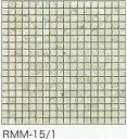モザイクタイル シート 15角 マーブル 大理石調 磁器質 白 タソス。キッチン 壁等のDIYに(324粒)
