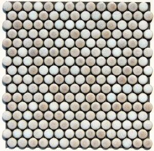 丸 モザイクタイル シート 磁器 19mm かわいい ピンクパール アンテイーク ミックスデザイン。キッチン カウンター お風呂 浴室 浴槽 床 壁 洗面台 玄関 テーブル トイレをDIYで、おしゃれにリ