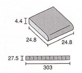片面コーナー(角用)25角 レトロ モザイクタイル 最薄 4.4mm厚 1シート(11粒)単位の販売 片面 浴室 内装 床 壁用
